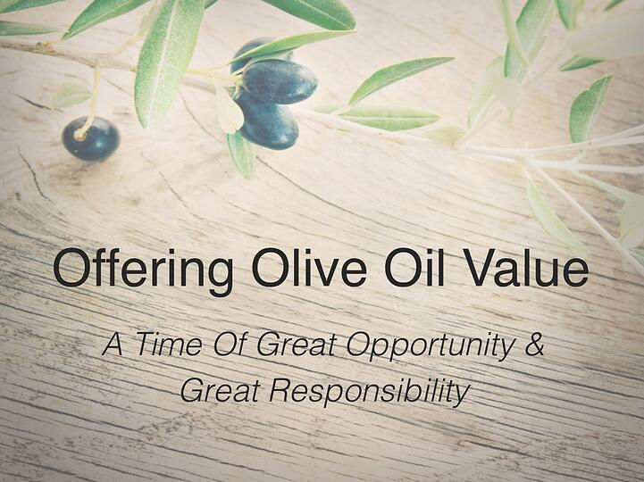 North American Olive Oil Association Conference Presentation