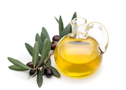 Olive Oil bottle with Olive Branch