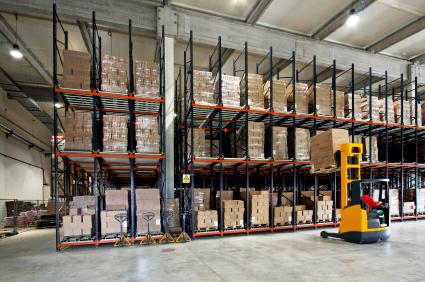 Bulk Oil Packaging in Warehouse
