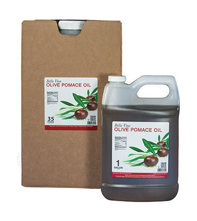 olive pomace oil food service packaging