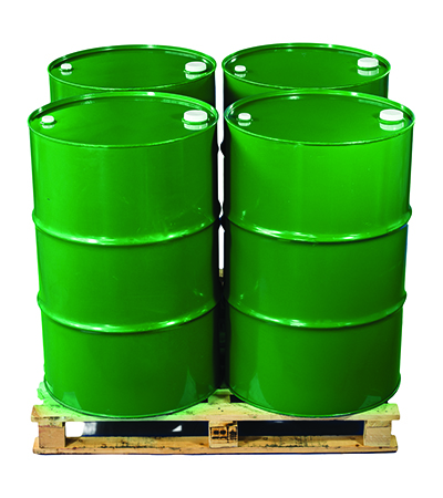 Pallet of Bulk Olive Oil Drums