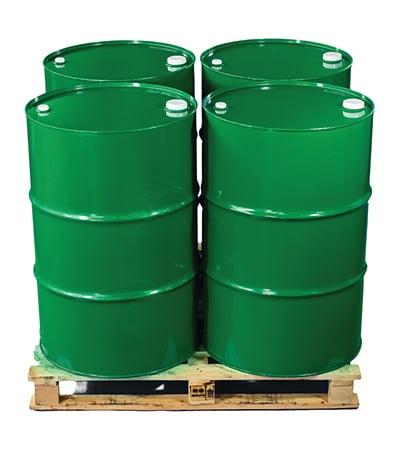 Pallet of Bulk Olive Oil Drums