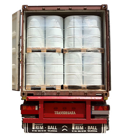 EVOO truckload of drums