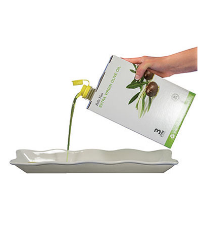 EVOO bag in a box pouring