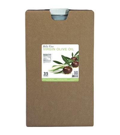 35lber case of virgin olive oil
