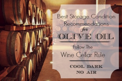 Best Recommended Storage Conditions For Olive Oil