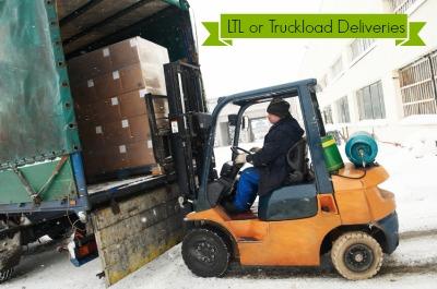 Forklift Unload Bulk LTL Shipment