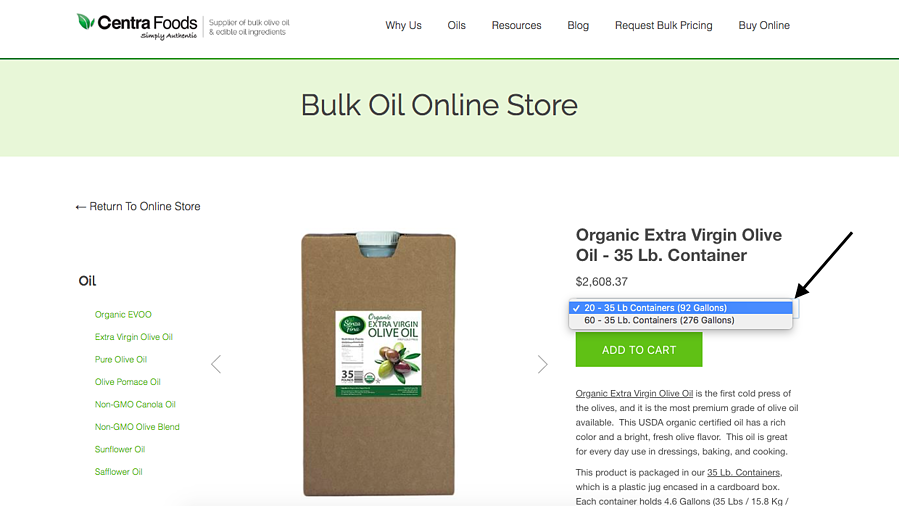 Ordering Partial Pallet of Organic Olive Oil Online