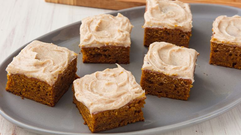Source https://www.delish.com/cooking/recipe-ideas/a21925426/easy-pumpkin-bars-with-cream-cheese-frosting/
