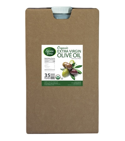 Organic EVOO - 35 Lb. Container JIB Carboy by the pallet