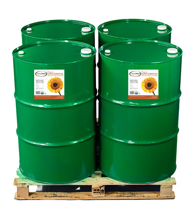Organic Certified Sunflower Oil Drums