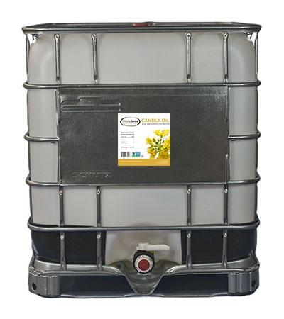 Non-GMO Canola Oil in Bulk Tote for Food Manufacturing