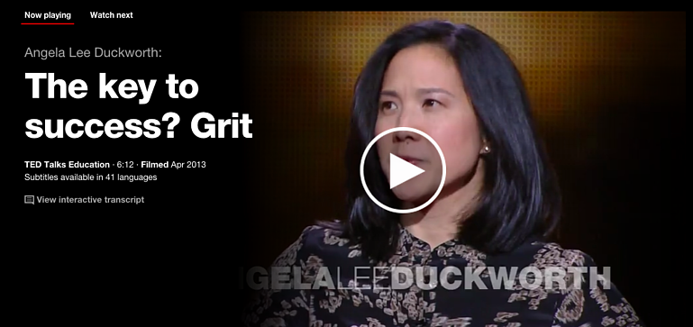 The Key To Success? Grit Ted Talk
