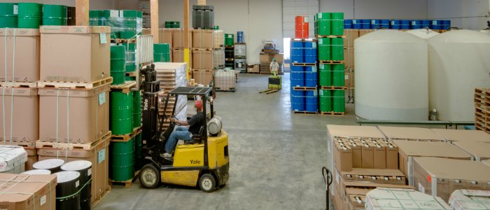 Inside Centra Foods Warehouse for Oil Packing