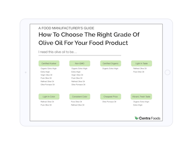 How To Choose The Right Grade Of Olive Oil For Your Food Product