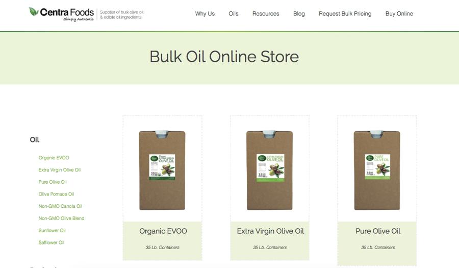 eCommerce Online Bulk Oil Store