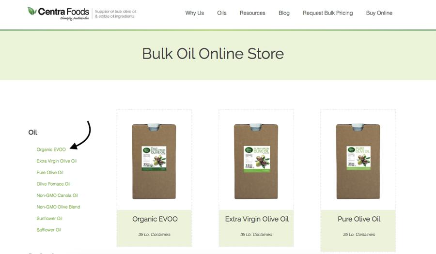 bulk oil online store - Centra Foods