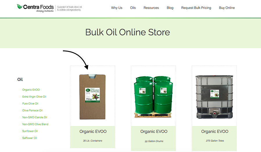 How to order on our online store for bulk olive oil