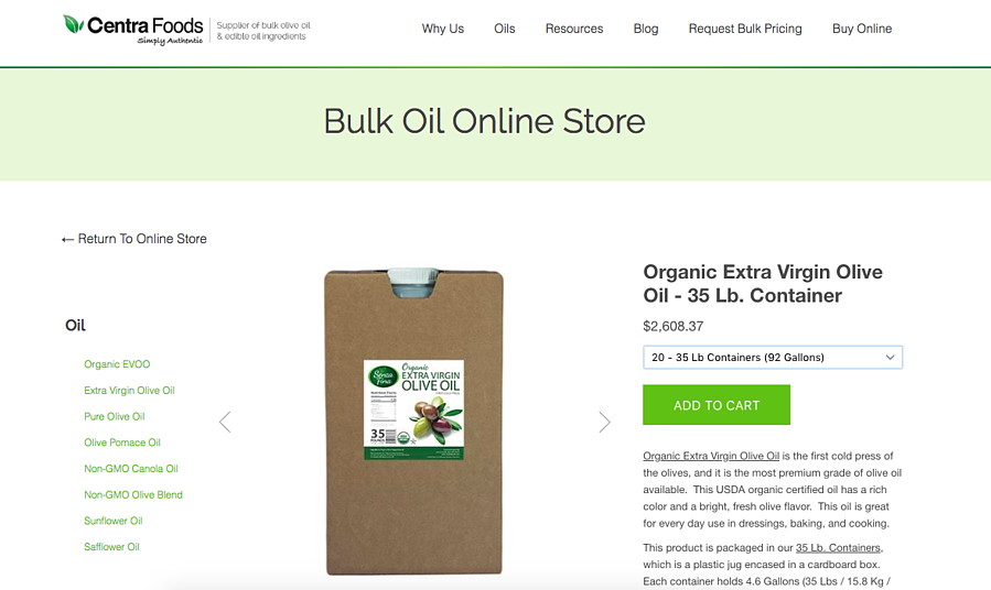 How to order bulk Organic EVOO Online