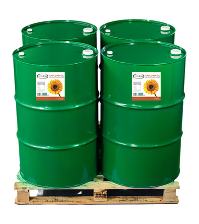 4 Drums of High Oleic Expeller Pressed Sunflower Oil