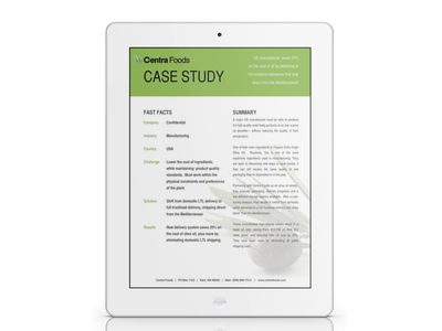 Case Study:  Switching From Pallet Deliveries To Full Truckloads
