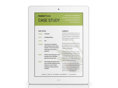 Case Study:  Switching From 55 Gallon Drums to 330 Gallon Totes