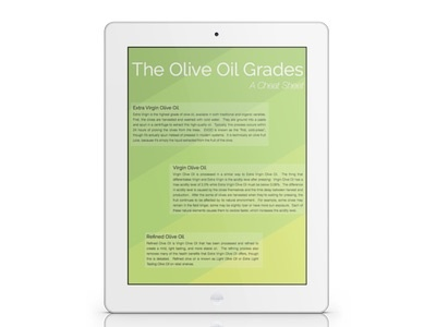 The Olive Oil Grades - A Cheat Sheet